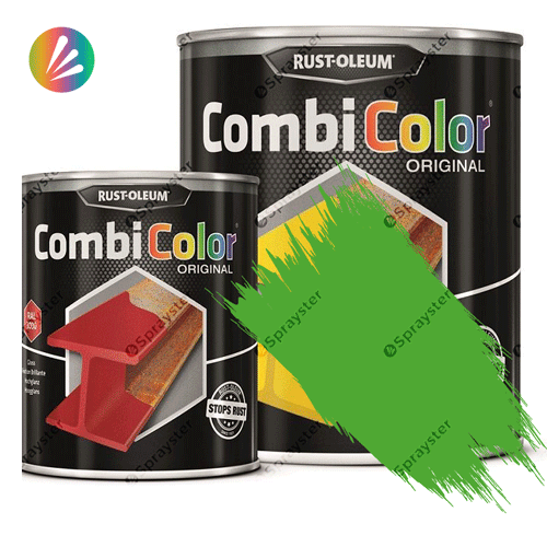 Direct-To-Metal-Paint-Rust-Oleum-CombiColor-Original-Satin-750ml-Sprayster-Yellow-Green