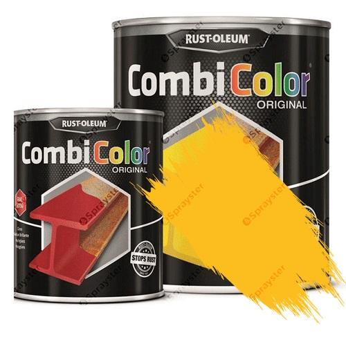 Direct-To-Metal-Paint-Rust-Oleum-CombiColor-Original-Satin-Sprayster-Coleseed-Yellow