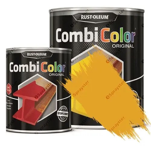 Direct-To-Metal-Paint-Rust-Oleum-CombiColor-Original-Satin-Sprayster-Safety-Yellow