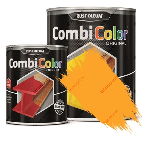 Direct-To-Metal-Paint-Rust-Oleum-CombiColor-Original-Satin-Sprayster-Signal-Yellow