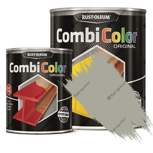 Direct-To-Metal-Paint-Rust-Oleum-CombiColor-Original-Satin-Sprayster-Silver-Grey
