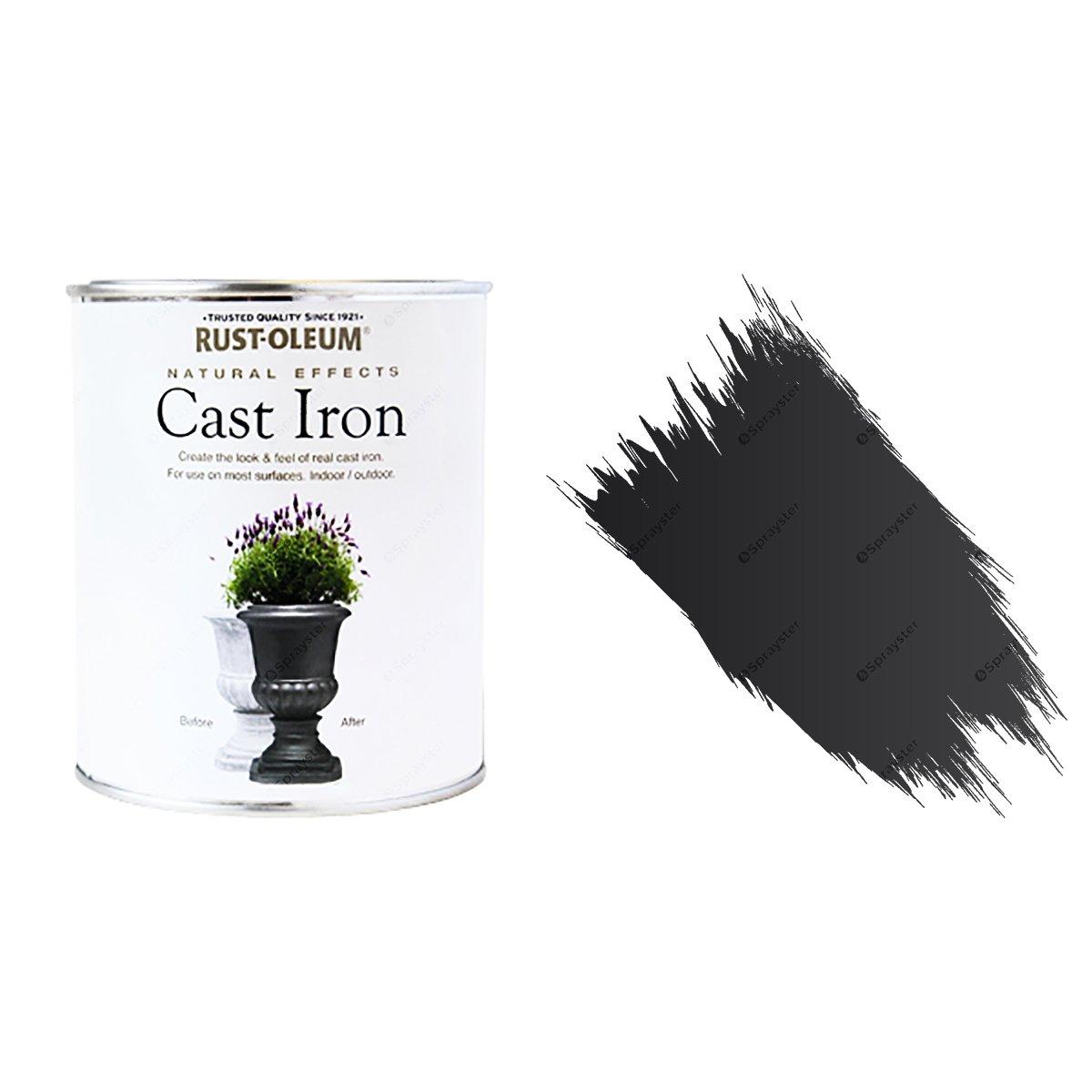 Rust-Oleum Cast Iron Matt All-Surface Self Primer Paint Natural Effects  250ml