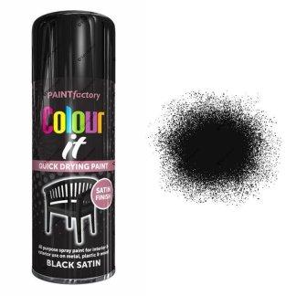 x1-Paint-Factory-Multi-Purpose-Colour-It-Spray-Paint-400ml-Black-Satin