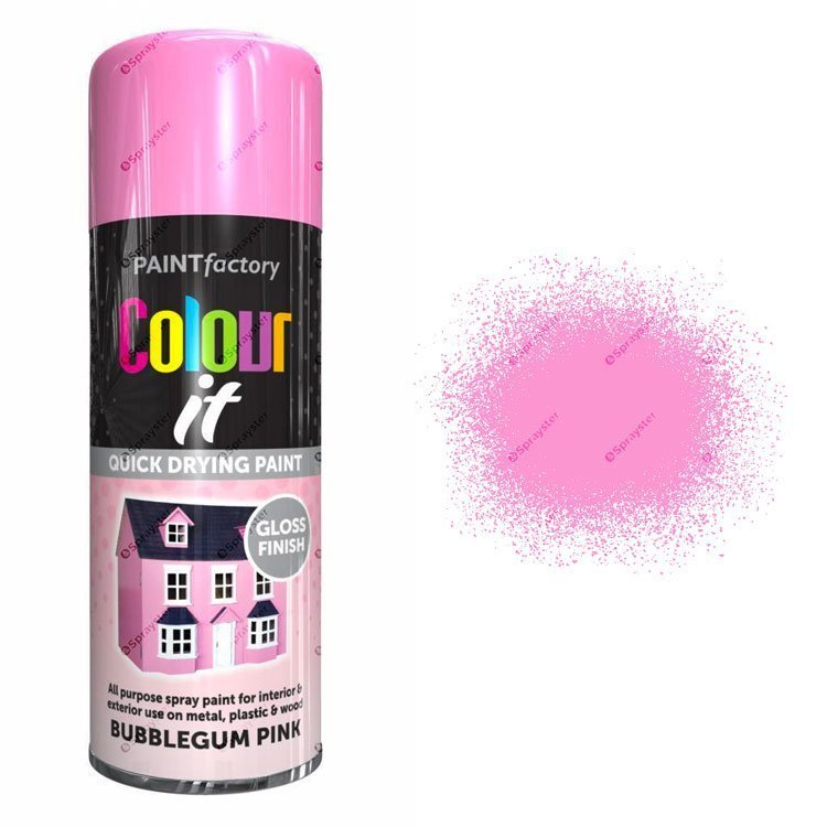 x1-Paint-Factory-Multi-Purpose-Colour-It-Spray-Paint-400ml-Bubblegum-Pink-Gloss