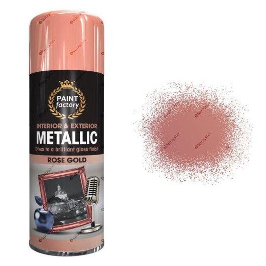 x1-Paint-Factory-Multi-Purpose-Spray-Paint-400ml-Gloss-Metallic-Rose-Gold