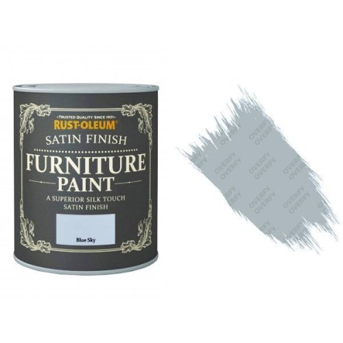 Rust-Oleum Blue Sky Furniture Paint 125ml Shabby Chic Toy Safe Satin