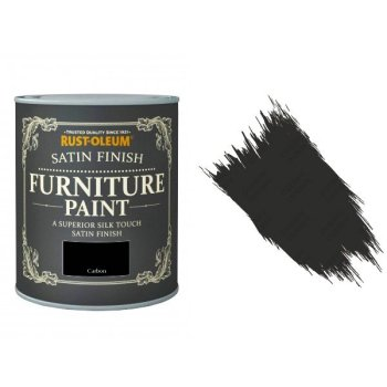 Rust-Oleum Carbon Furniture Paint 750ml Shabby Chic Toy Safe Satin