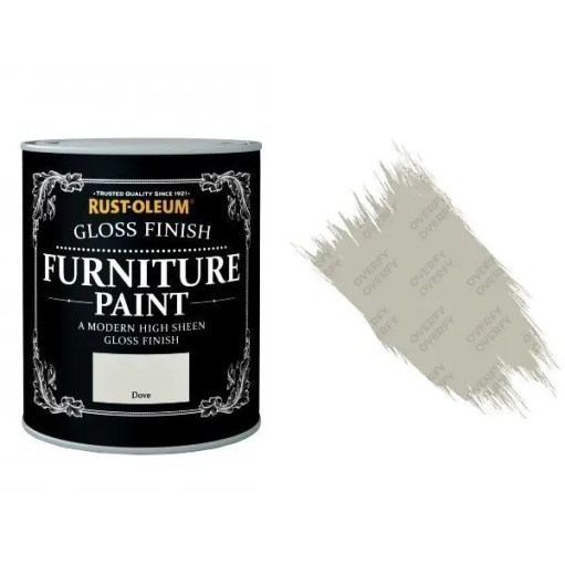 Rust-Oleum Dove Furniture Paint 125ml Shabby Chic Toy Safe Gloss