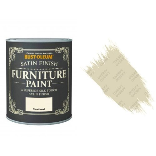 Rust-Oleum Shortbread Furniture Paint 125ml Shabby Chic Toy Safe Satin