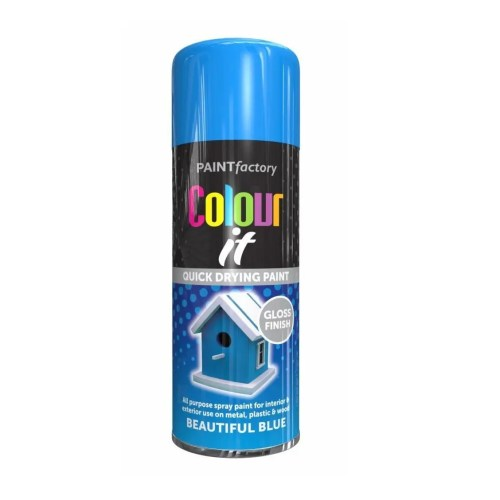 Colour It Beautiful Blue Spray Paint Gloss 250ml
