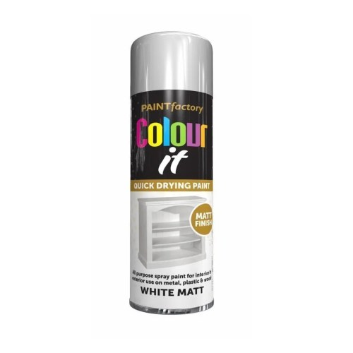 Colour It White Spray Paint Matt 250ml