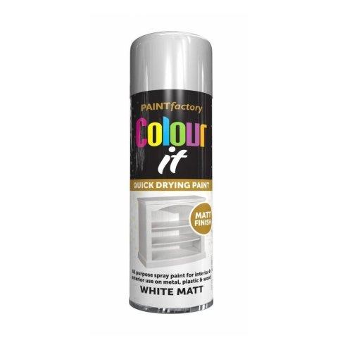 Colour It White Spray Paint Matt 250ml
