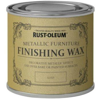 Gold Furniture Wax 125ml Rust-Oleum Shabby Chic Finish
