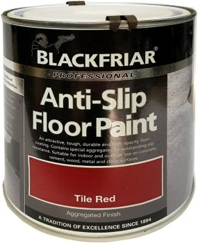 Blackfriar anti-slip floor paint tile red