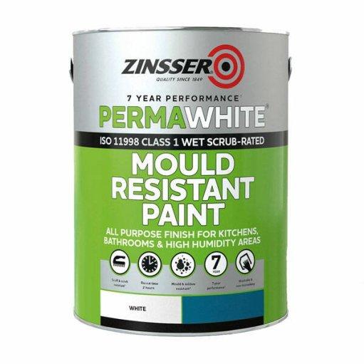 Zinsser Perma-White Interior Satin Paint 10L