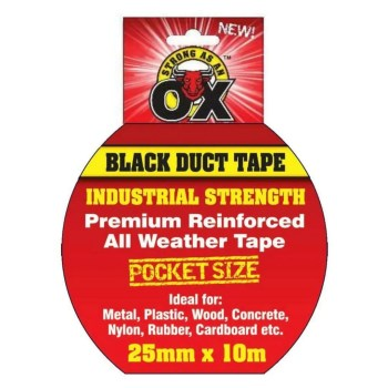 Duct Tape Black 25mm x 10mm Image