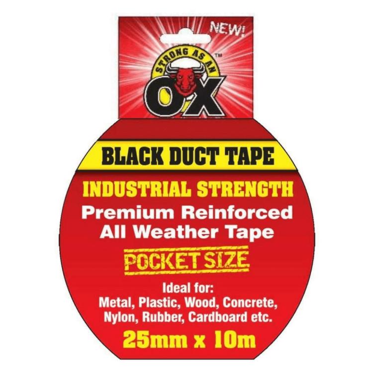 Duct Tape Black 25mm x 10mm Image