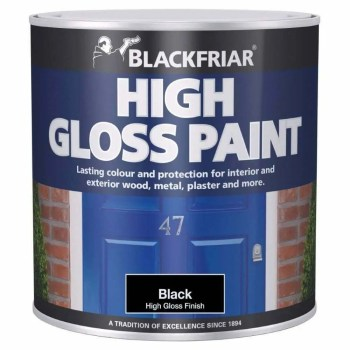 Blackfriar High Gloss Paint Black 500ml