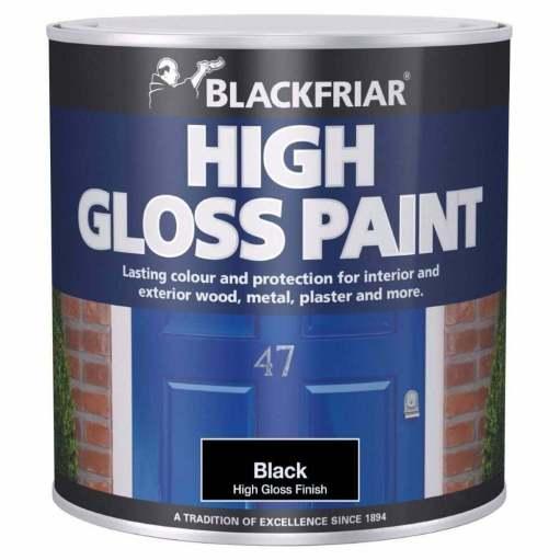 Blackfriar High Gloss Paint Black 500ml