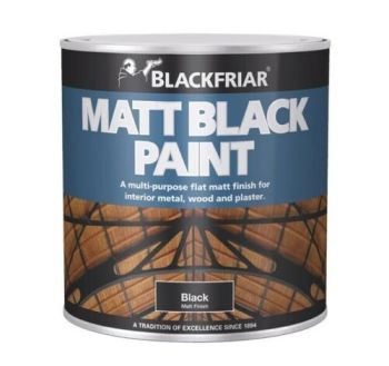 Blackfriar Matt Black Paint 125ml