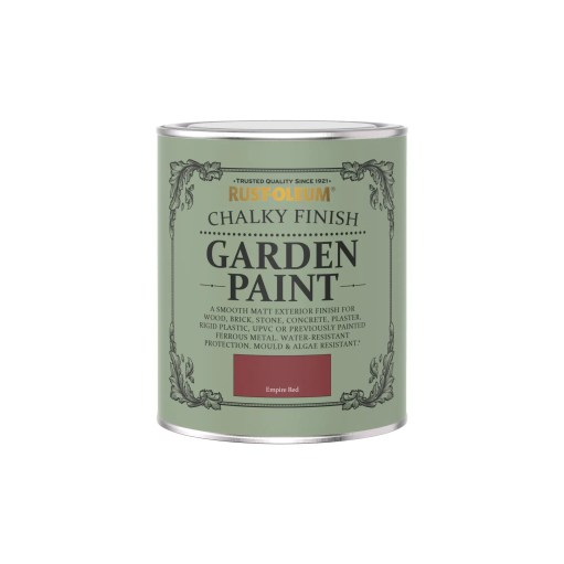 Rust-Oleum Chalky Garden Paint Empire Red Matt 750ml