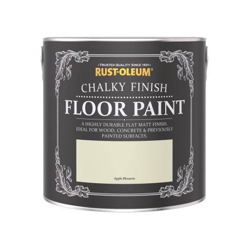 Rust-Oleum Chalky Floor Paint Apple Blossom Matt 2.5L