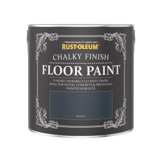 Rust-Oleum Chalky Floor Paint Blueprint Matt 2.5L