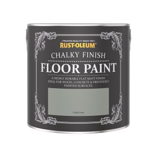 Rust-Oleum Chalky Floor Paint Chalk Green Matt 2.5L