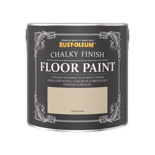 Rust-Oleum Chalky Floor Paint Clotted Cream Matt 2.5L