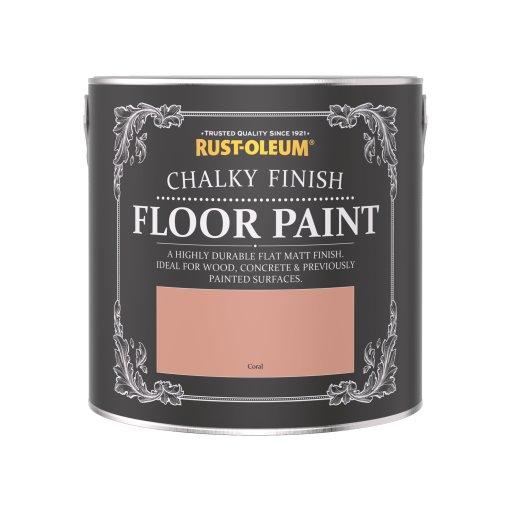 Rust-Oleum Chalky Floor Paint Coral Matt 2.5L