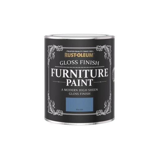 Rust-Oleum Gloss Furniture Paint Blue Silk 750ml