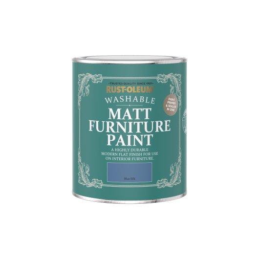 Rust-Oleum Matt Furniture Paint Blue Silk 750ml