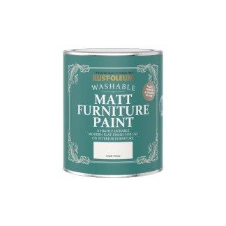 Rust-Oleum Matt Furniture Paint Chalk White 750ml