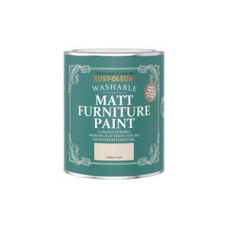 Rust-Oleum Matt Furniture Paint Clotted Cream 750ml
