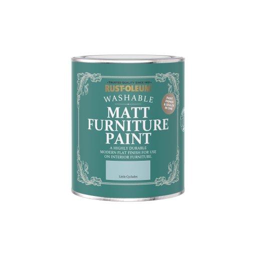 Rust-Oleum Matt Furniture Paint Little Cyclades 750ml