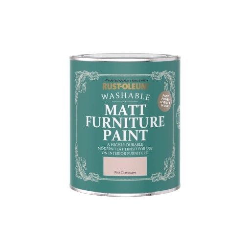 Rust-Oleum Matt Furniture Paint Pink Champagne 750ml