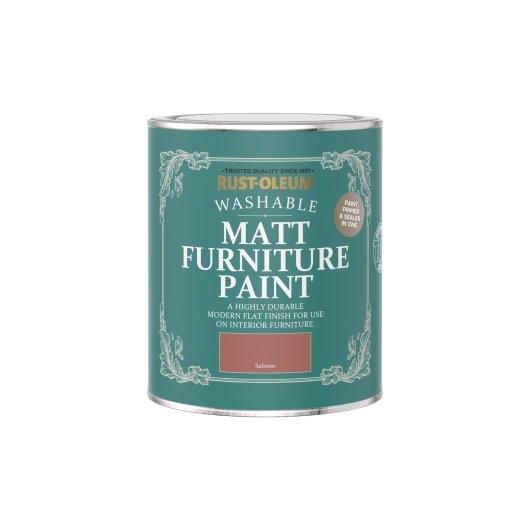 Rust-Oleum Matt Furniture Paint Salmon 750ml