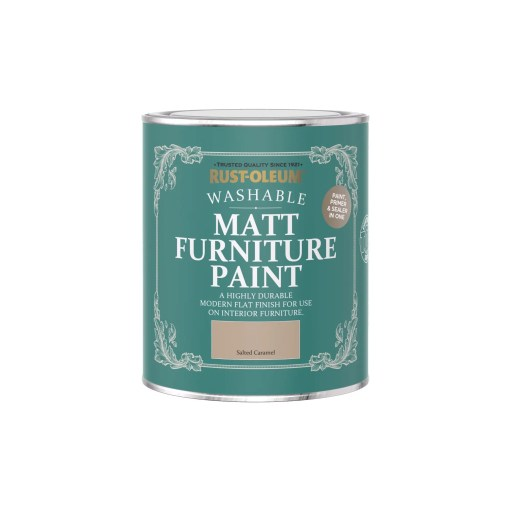 Rust-Oleum Matt Furniture Paint Salted Caramel 750ml