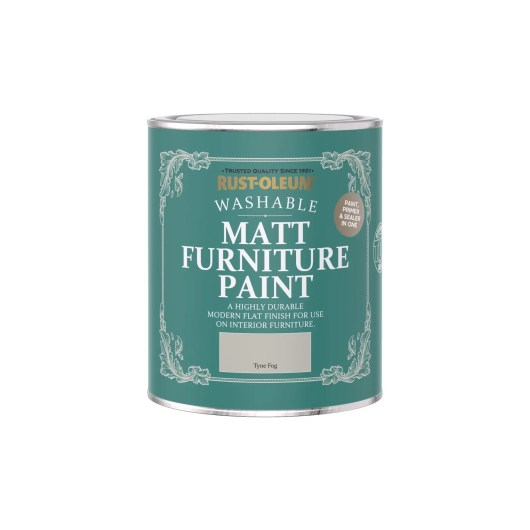 Rust-Oleum Matt Furniture Paint Tyne Fog 750ml