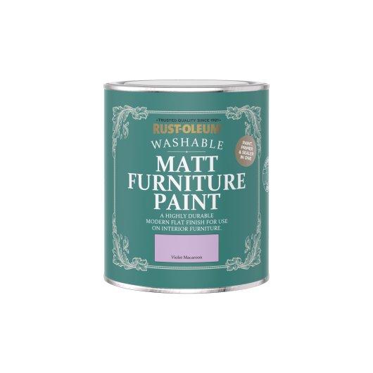Rust-Oleum Matt Furniture Paint Violet Macaroon 750ml