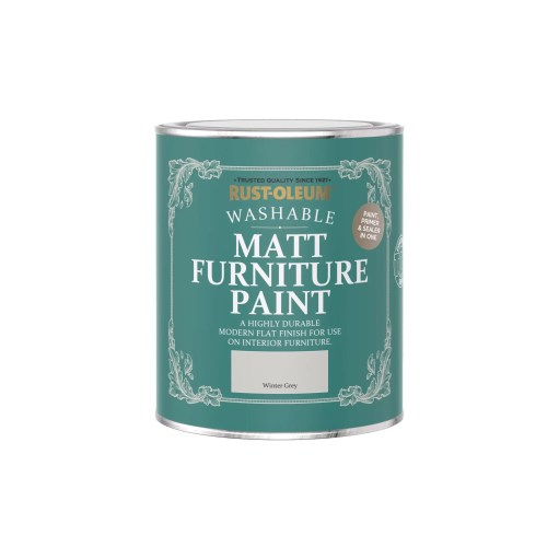 Rust-Oleum Matt Furniture Paint Winter Grey 750ml
