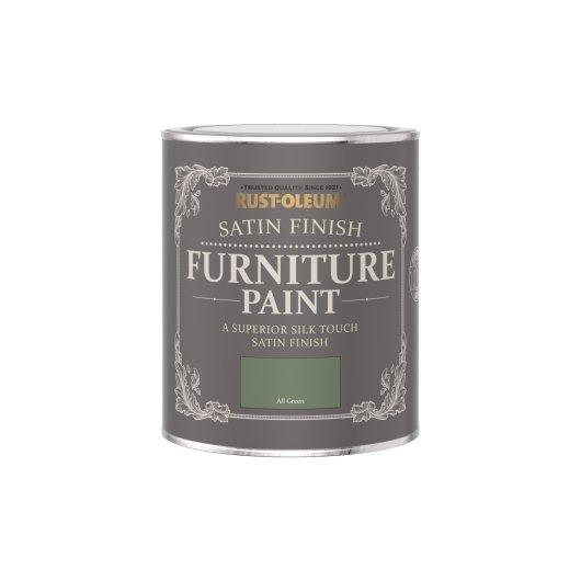 Rust-Oleum Satin Furniture Paint All Green 750ml