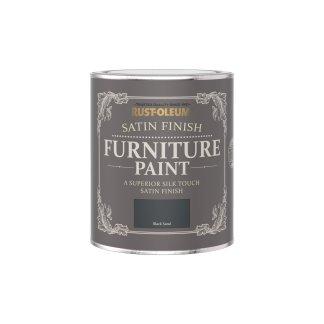 Rust-Oleum Satin Furniture Paint Black Sand 750ml