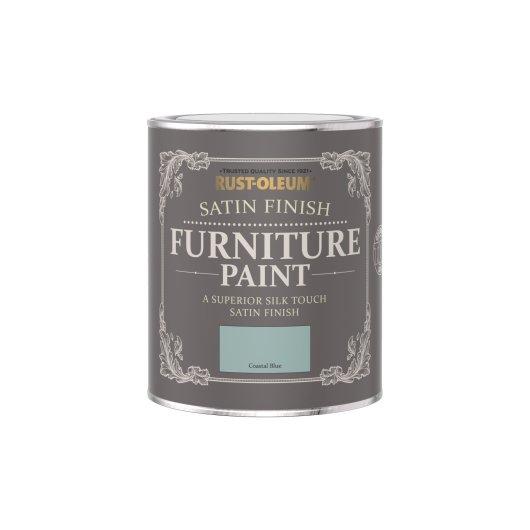Rust-Oleum Satin Furniture Paint Coastal Blue 750ml