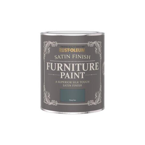Rust-Oleum Satin Furniture Paint Deep Sea 750ml
