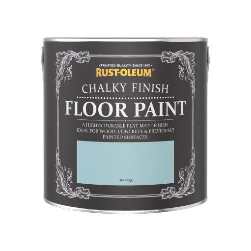 Rust-Oleum Chalky Floor Paint Duck Egg Matt 2.5L
