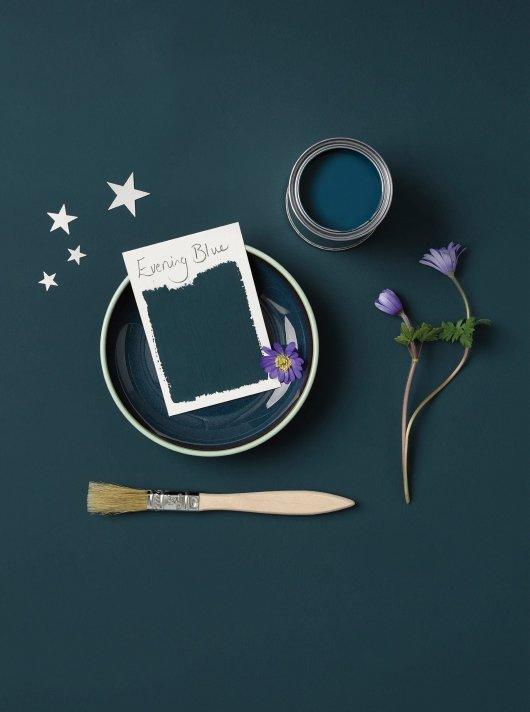 Rust-Oleum Chalky Floor Paint Evening Blue Matt 2.5L 2