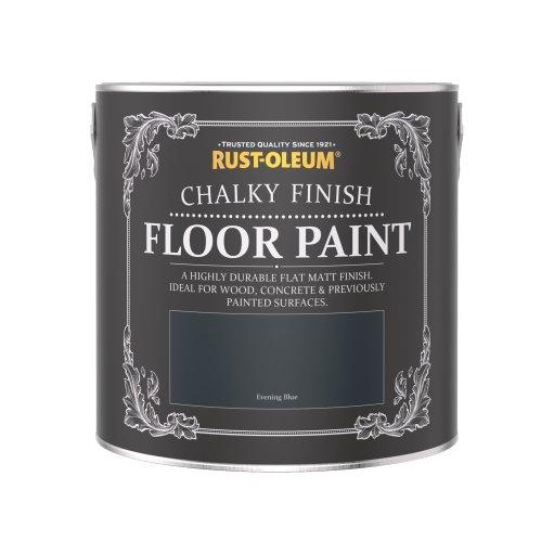 Rust-Oleum Chalky Floor Paint Evening Blue Matt 2.5L