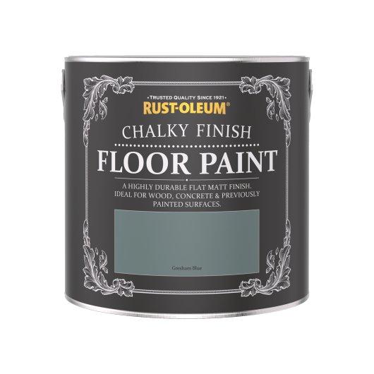 Rust-Oleum Chalky Floor Paint Gresham Blue Matt 2.5L