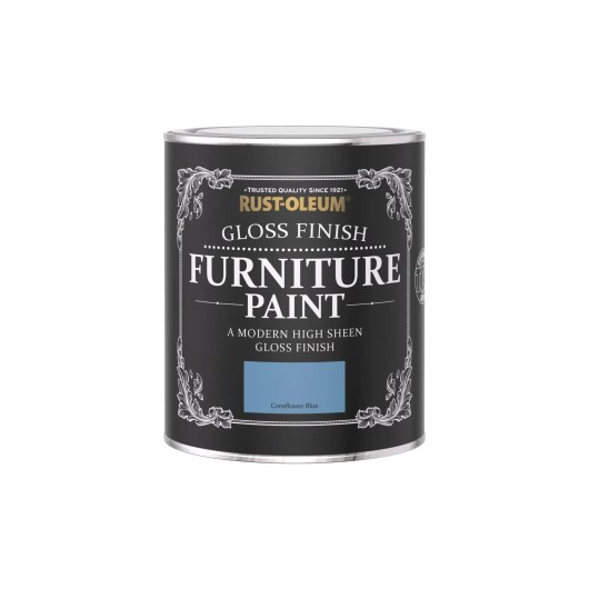 Rust-Oleum Gloss Furniture Paint Cornflower Blue 750ml